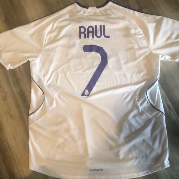 pretty nice e8f68 db506 Raul #7 Real Madrid Home Jersey (white)